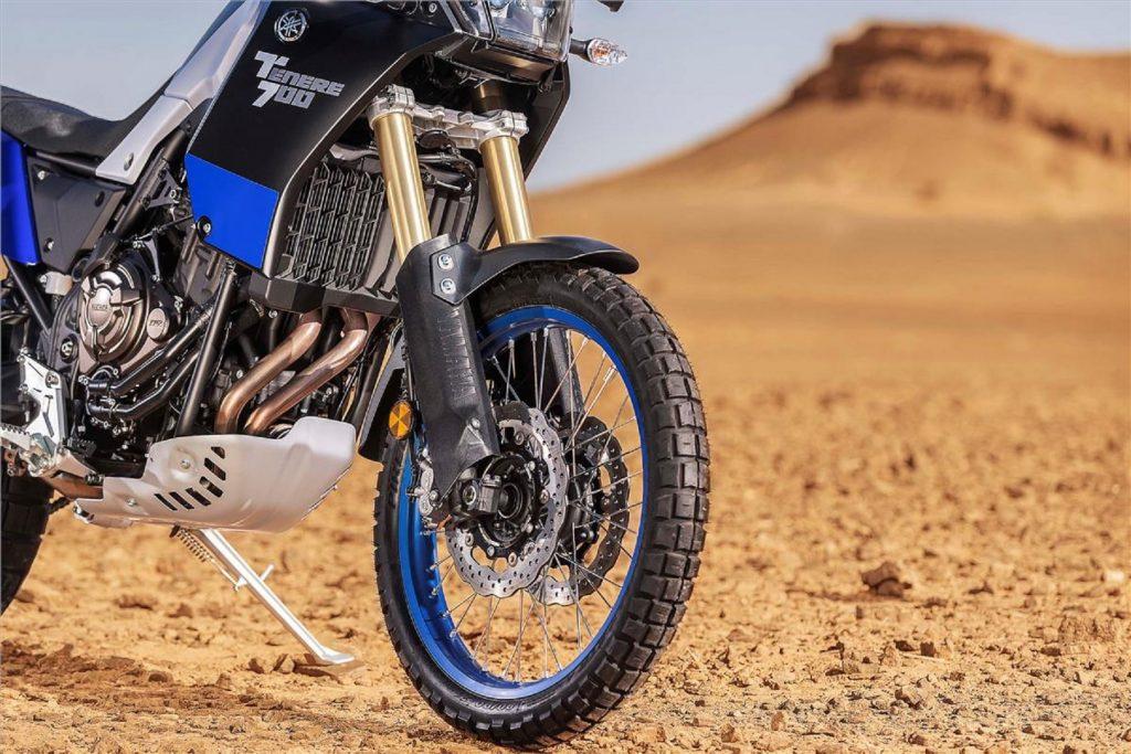 The front half of the 2021 Yamaha Ténéré 700