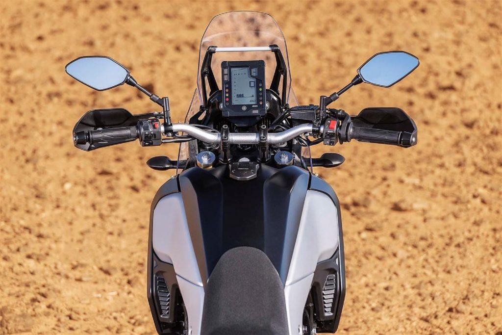 The 2021 Yamaha Ténéré 700's handlebars and dash