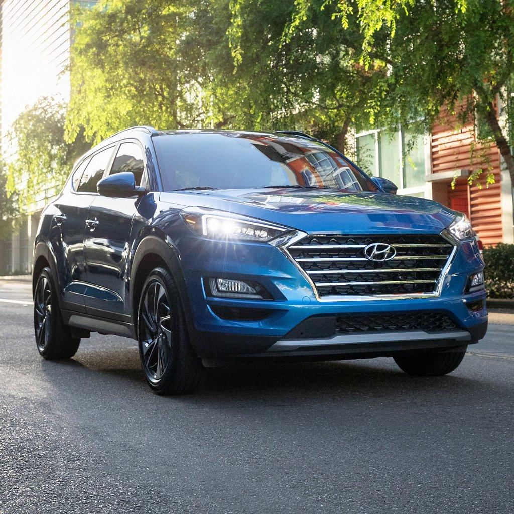 2021 Hyundai Tucson parked on street