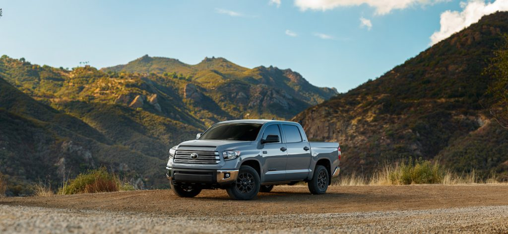 A photo of the Toyota Tundra outdoors.