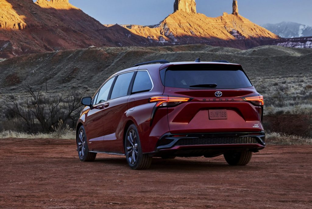 A photo of the Toyota Sienna outdoors.
