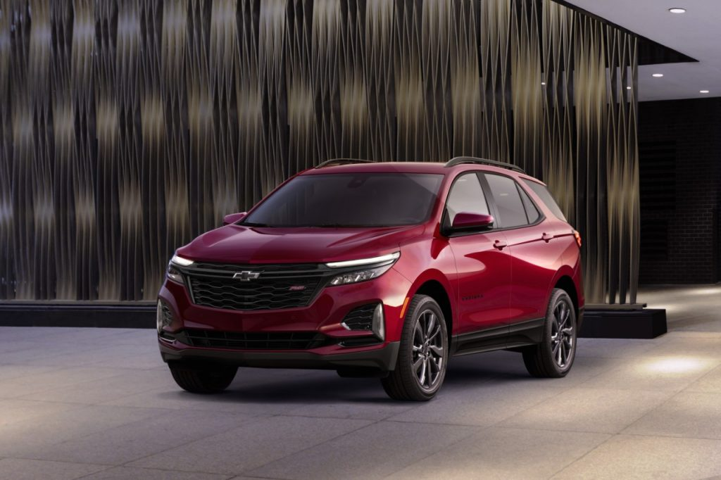 2022 Chevrolet Equinox on display