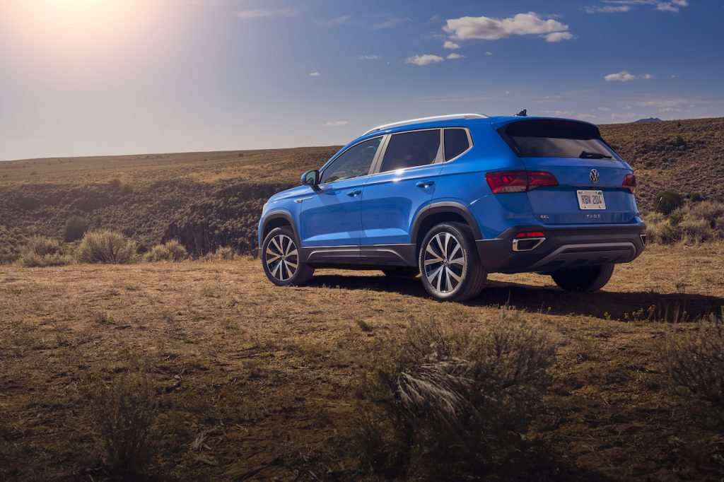 The Taos is Volkswagen's newest small crossover.
