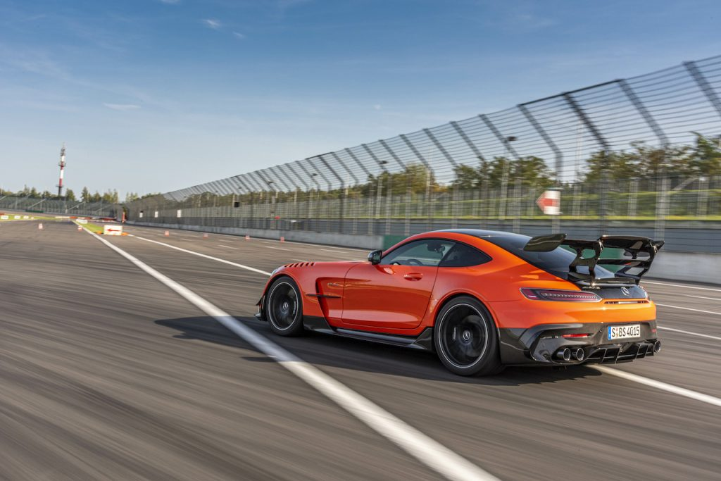 The Mercedes-AMG GT Black Series is the ultimate version of the GT sports car.