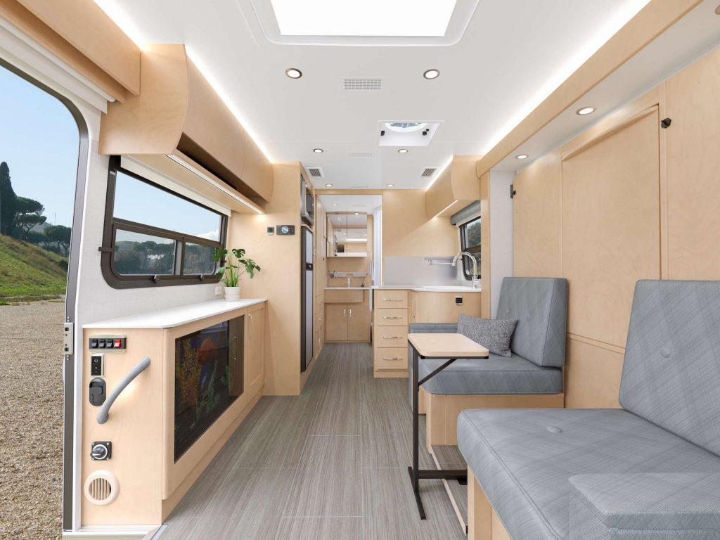 interior of a Unity Murphy Bed on a sprinter chassis