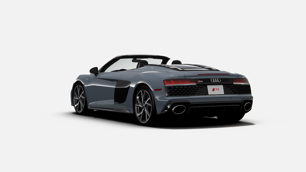 The Audi R8 is a V10-powered supercar.
