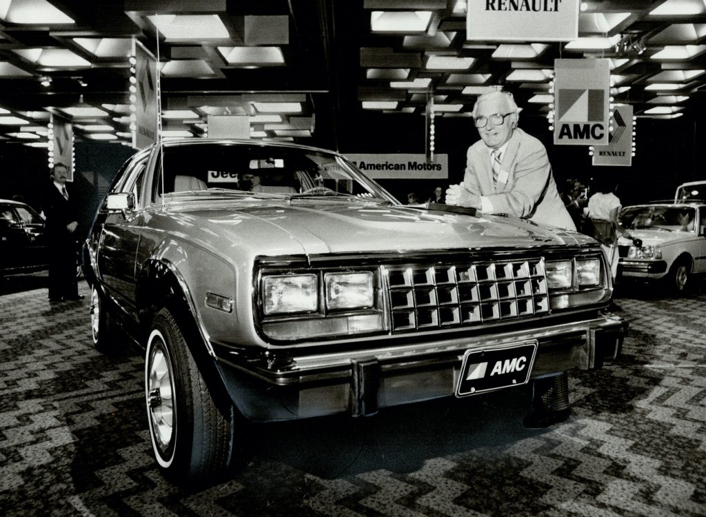 AMC Eagle with AMC President Bill Pickett ,1979