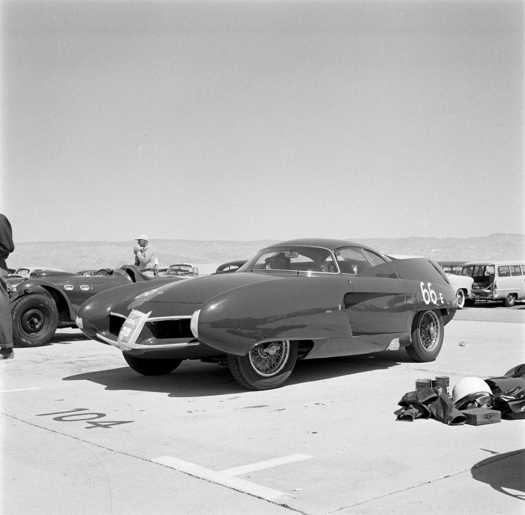 The 1954 Alfa Romeo BAT 7 at the 1955 Palm Springs Road Race