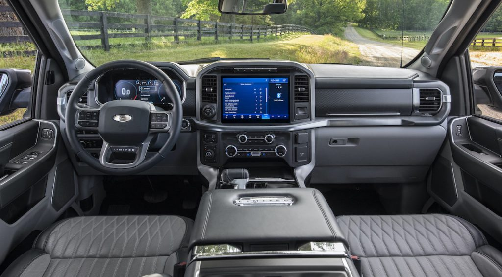 A photo of the 2021 Ford F-150's interior.