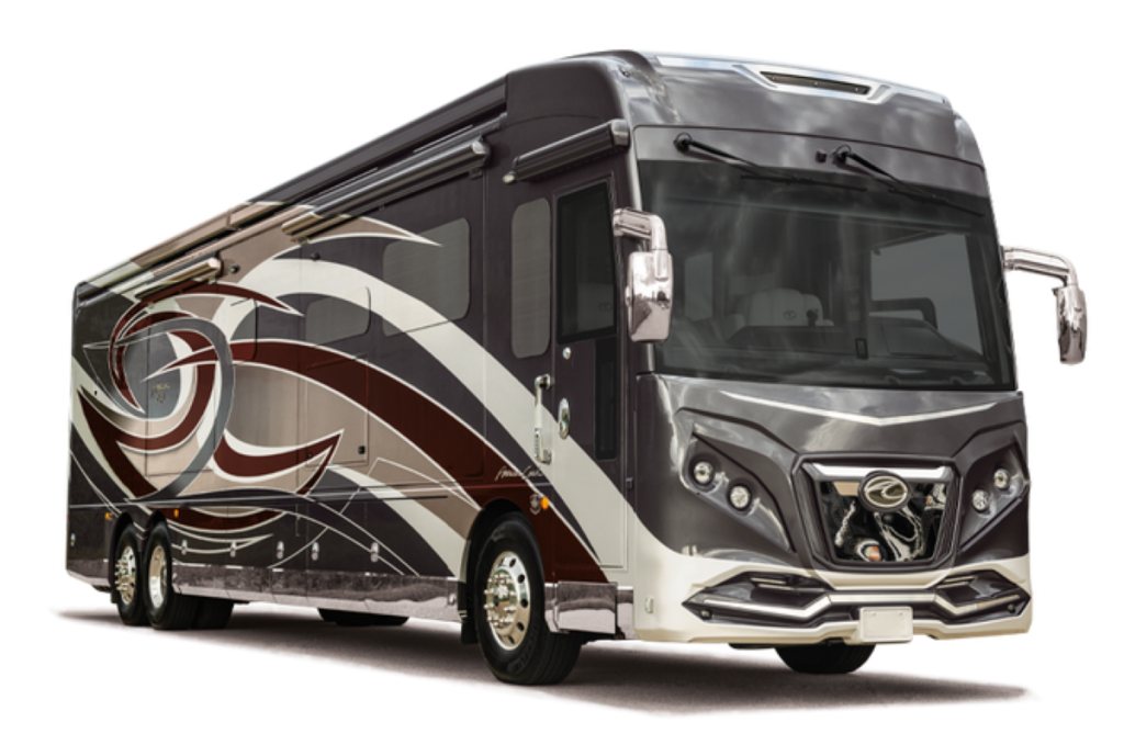 The American Eagle RV is a bus-like vehicle.
