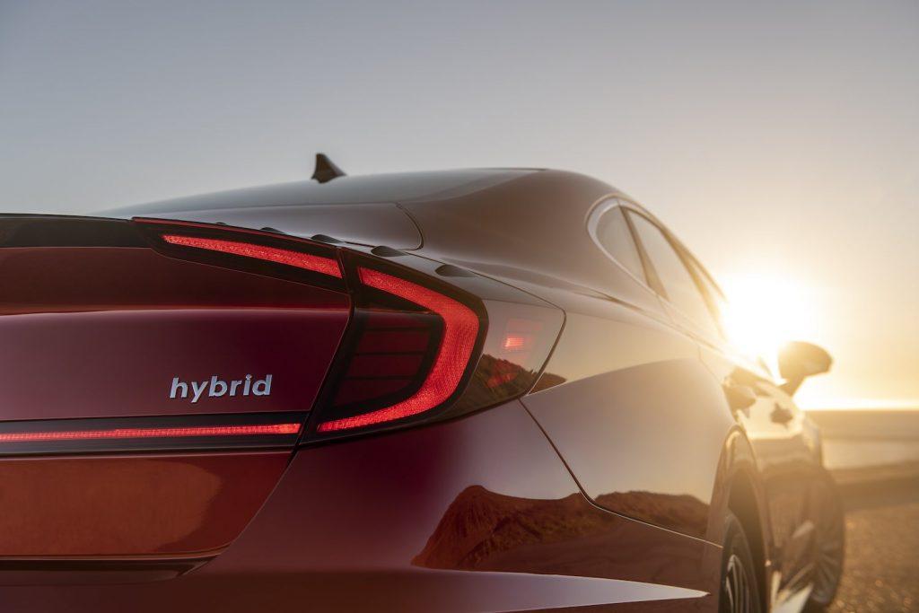 Back of 2021 Sonata Hybrid