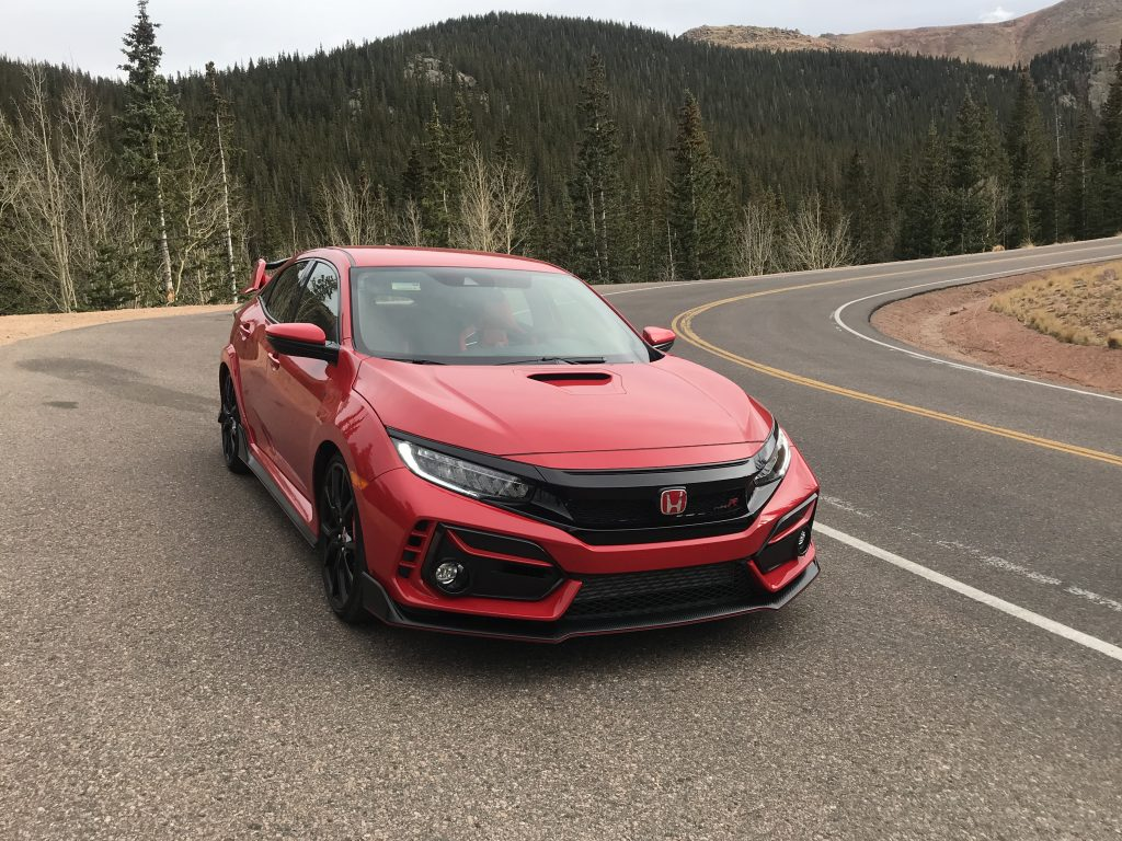 A front view of the Honda Civic Type R