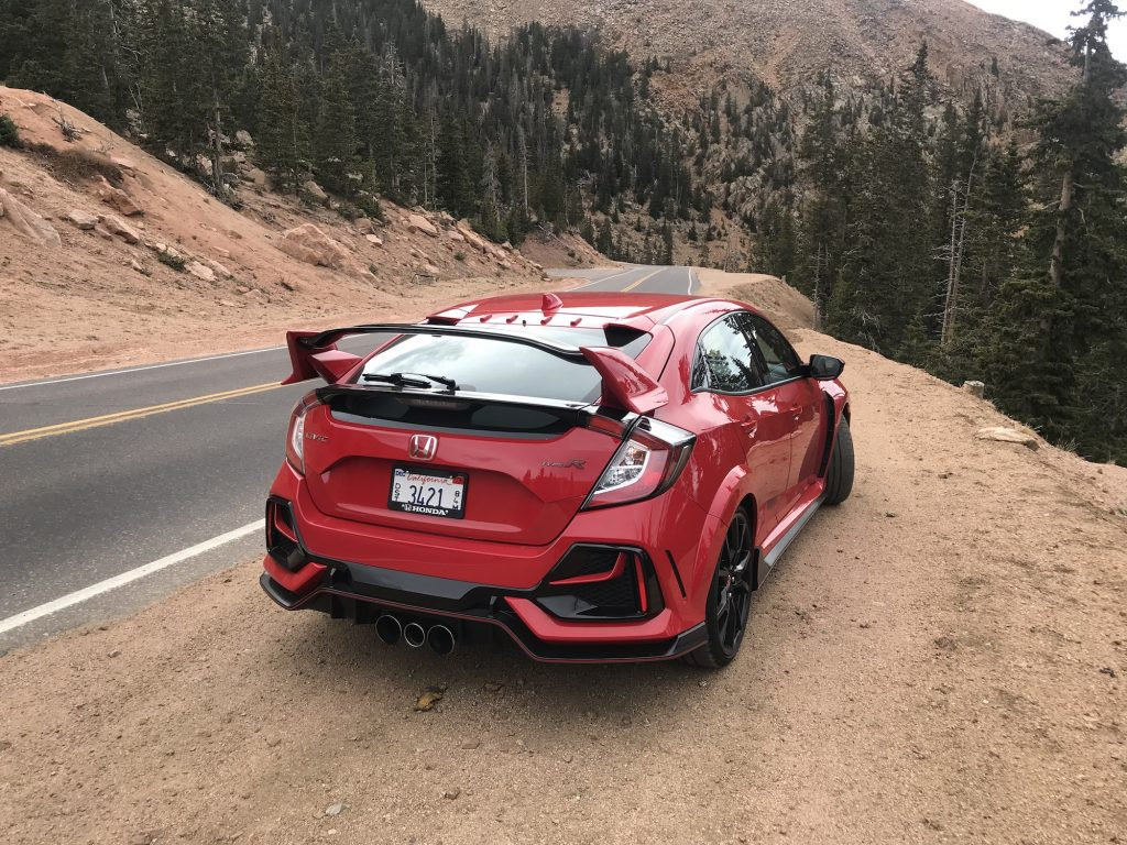 A rear view of the Civic Type R