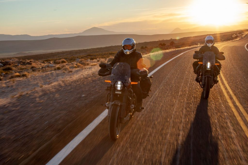 Charley Boorman and Ewan McGregor ride their Harley-Davidson LiveWires in 'Long Way Up'