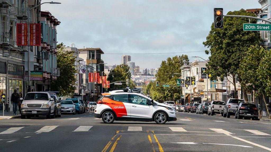 Cruise car seen in San Francisco streets