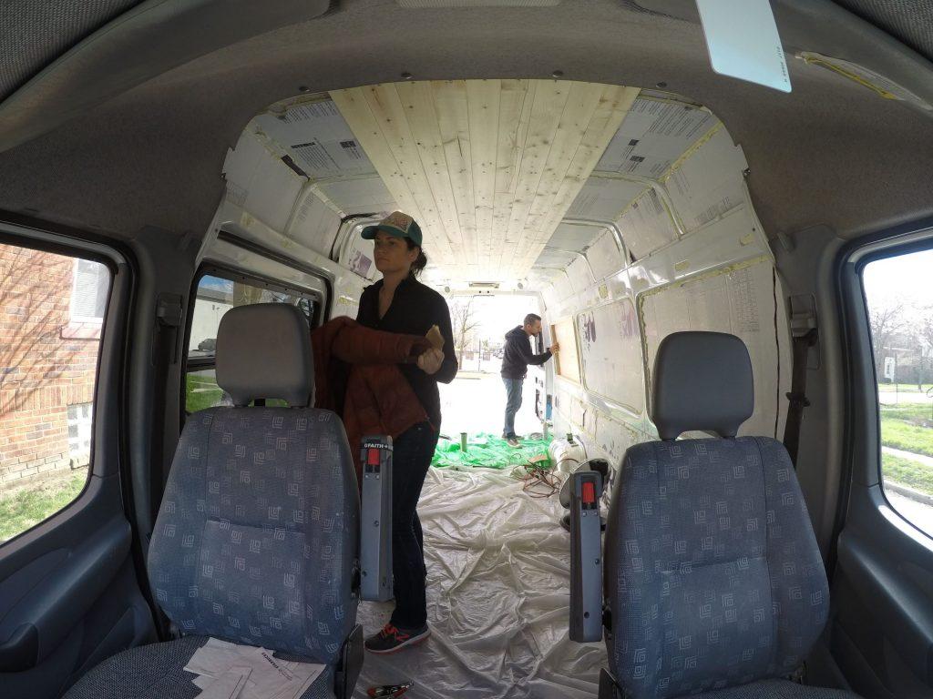 Eileah Ohnings builds her camper van