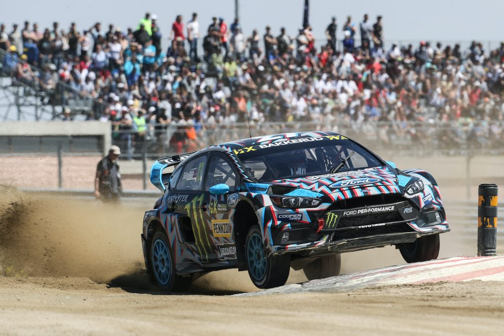 Andreas BAKKERUD (NOR) in Ford Focus RS of Hoonigan Racing Division in action during the World RX of Portugal 2017