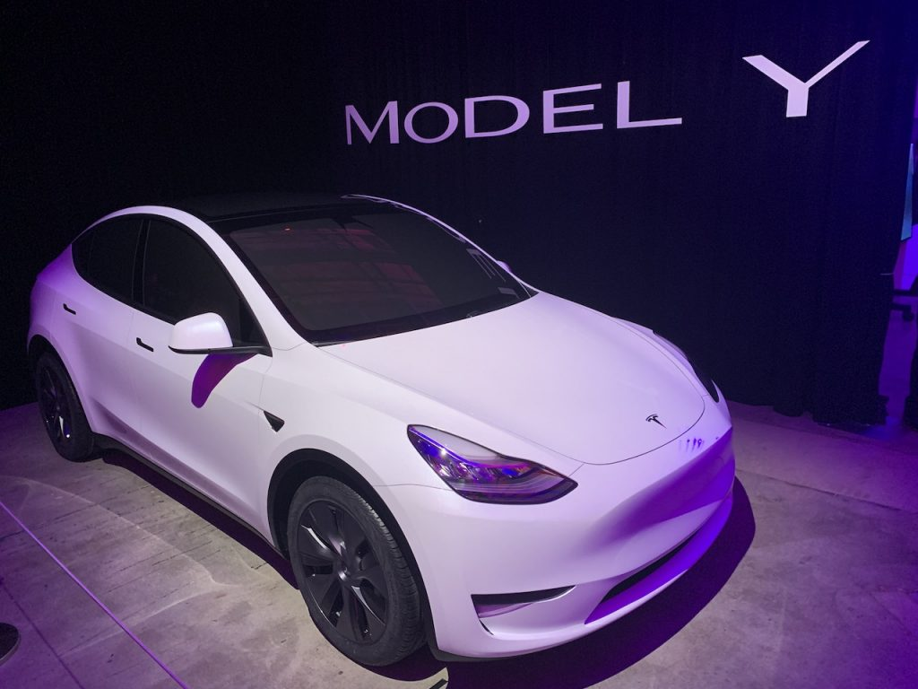 The Tesla Model Y is the brand's first small electric crossover.