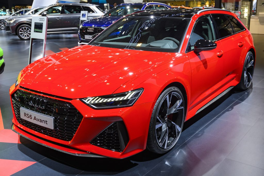 The Audi RS6 Avant is the fastest station produced by the German carmaker.