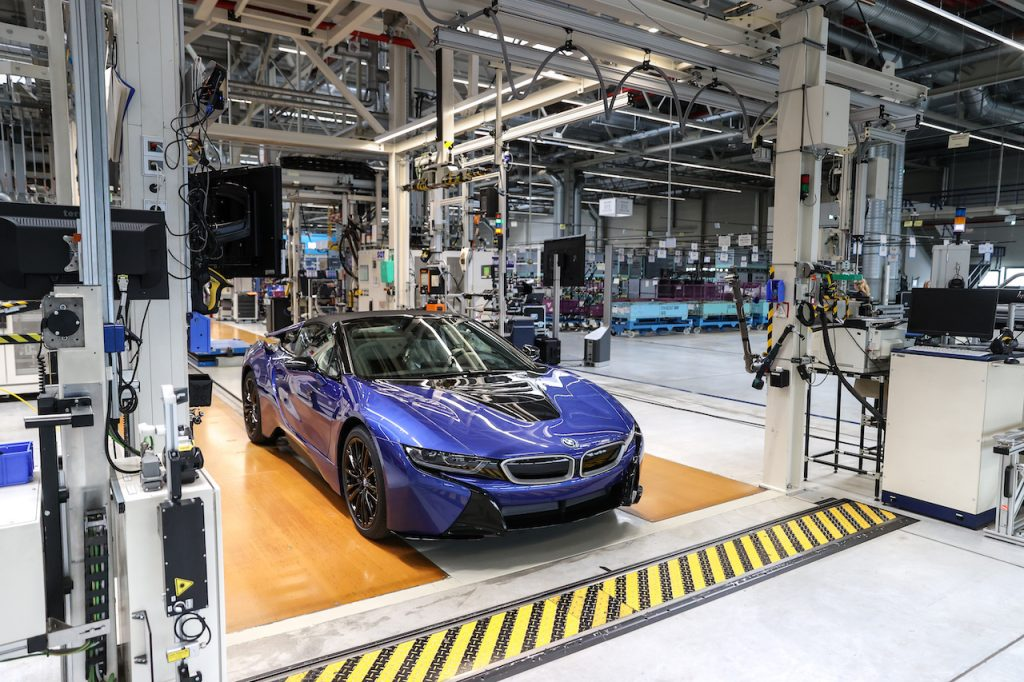 The BMW i8 was BMW's all-electric supercar.