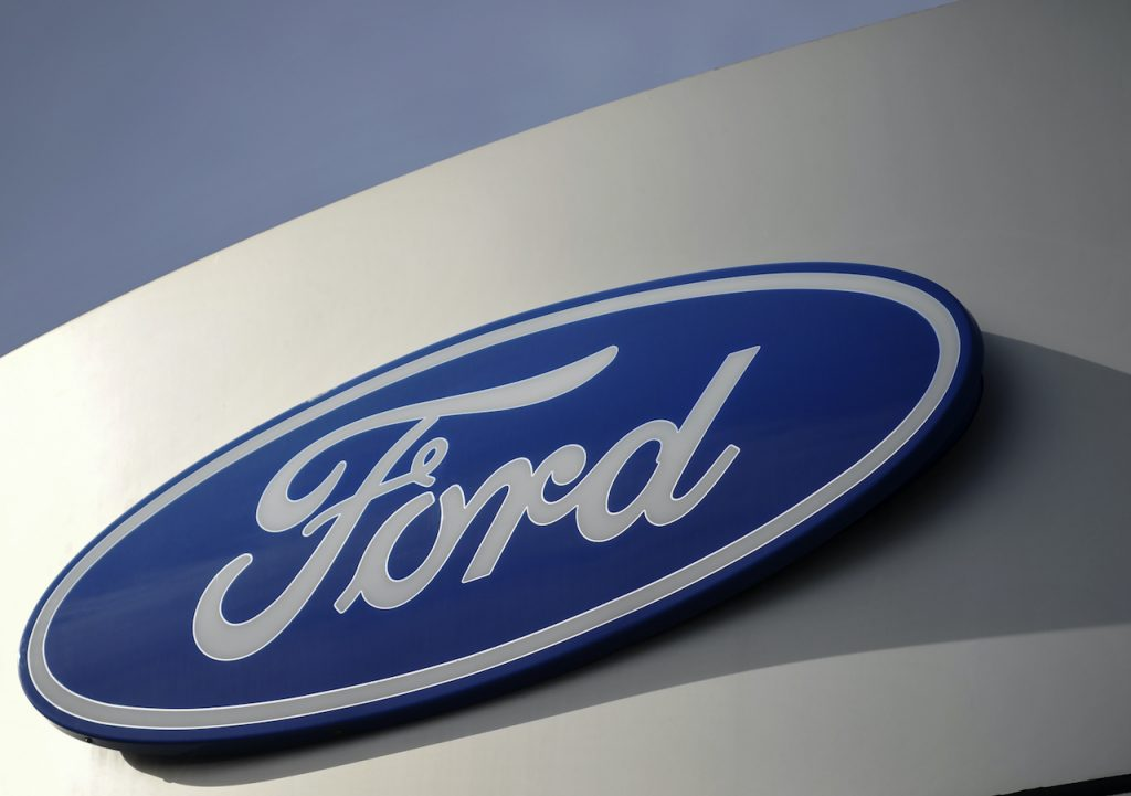 A close up image of the Ford logo