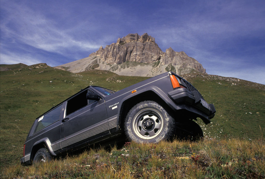 Jeep Cherokee XJ off-roading