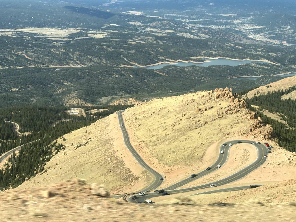 The switchbacks on Pike's Peak