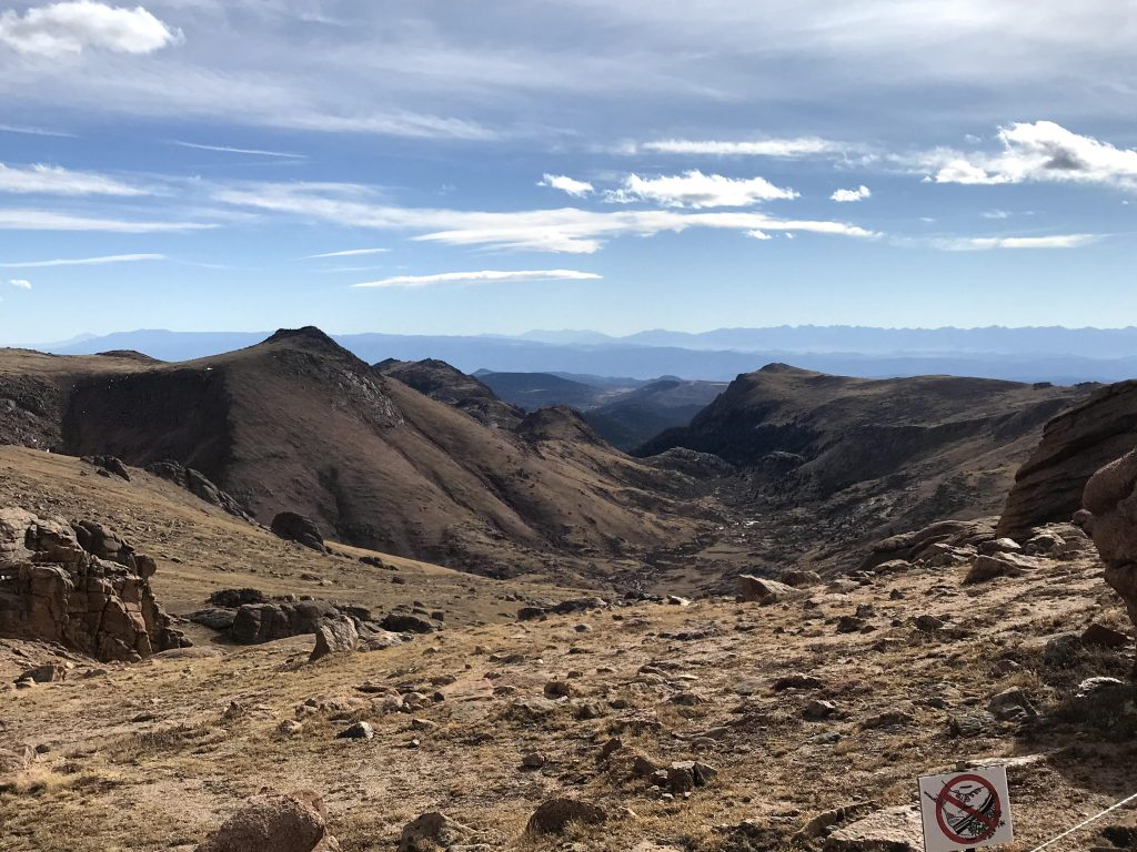 A view from the top of Pike's Peak