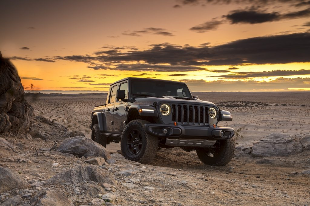 The Jeep Gladiator is a pickup truck version of the Wrangler.