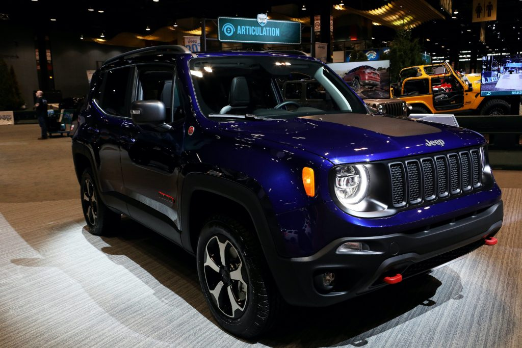 2020 Jeep Renegade is on display at the 112th Annual Chicago Auto Show