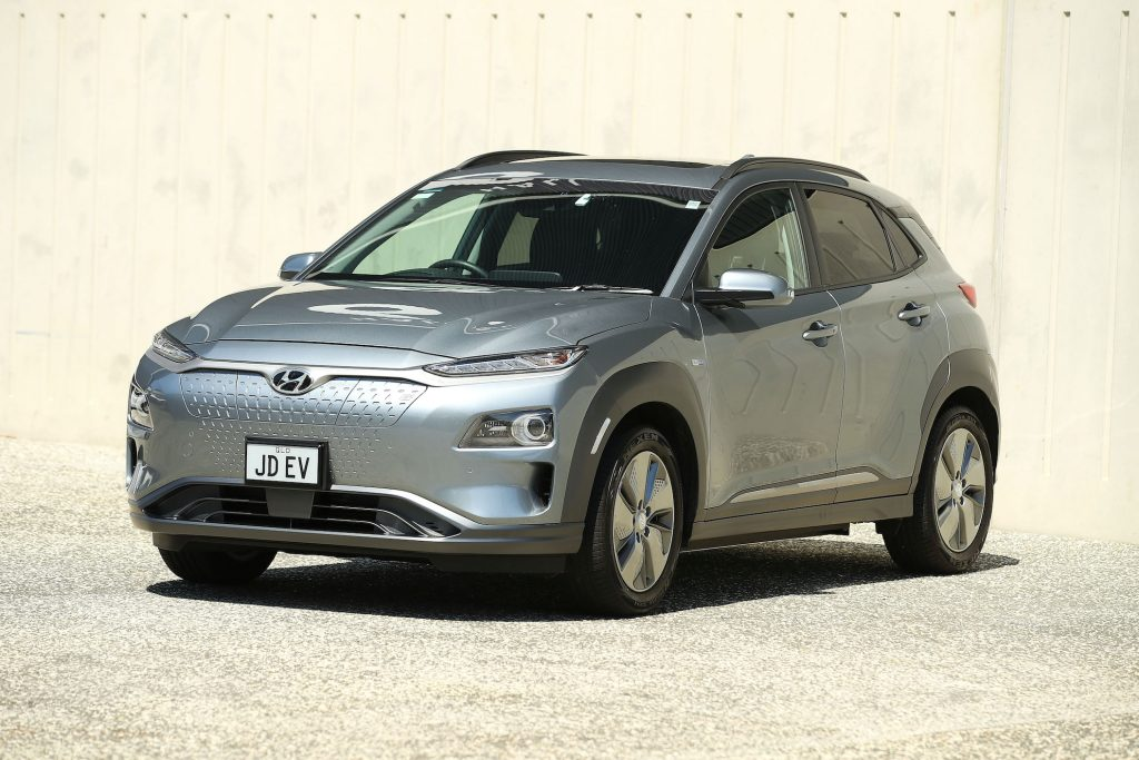 An Hyundai Kona Electric Highlander is seen in Sydney