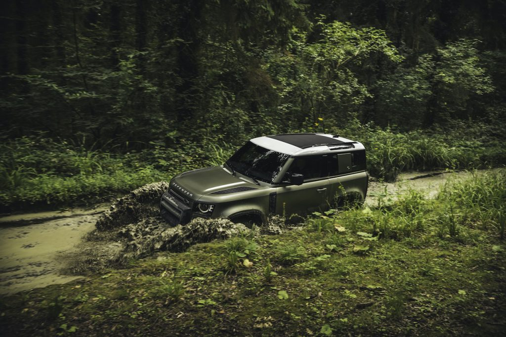 The Land Rover Defender is the brand's newest off-roading SUV.