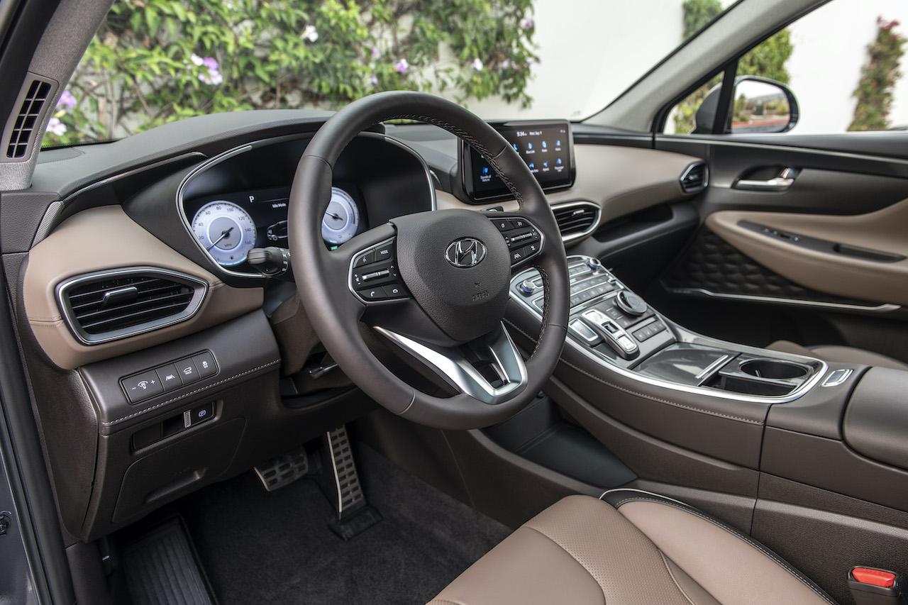 The 2021 Hyundai Santa Fe Got A New Interior And It Looks