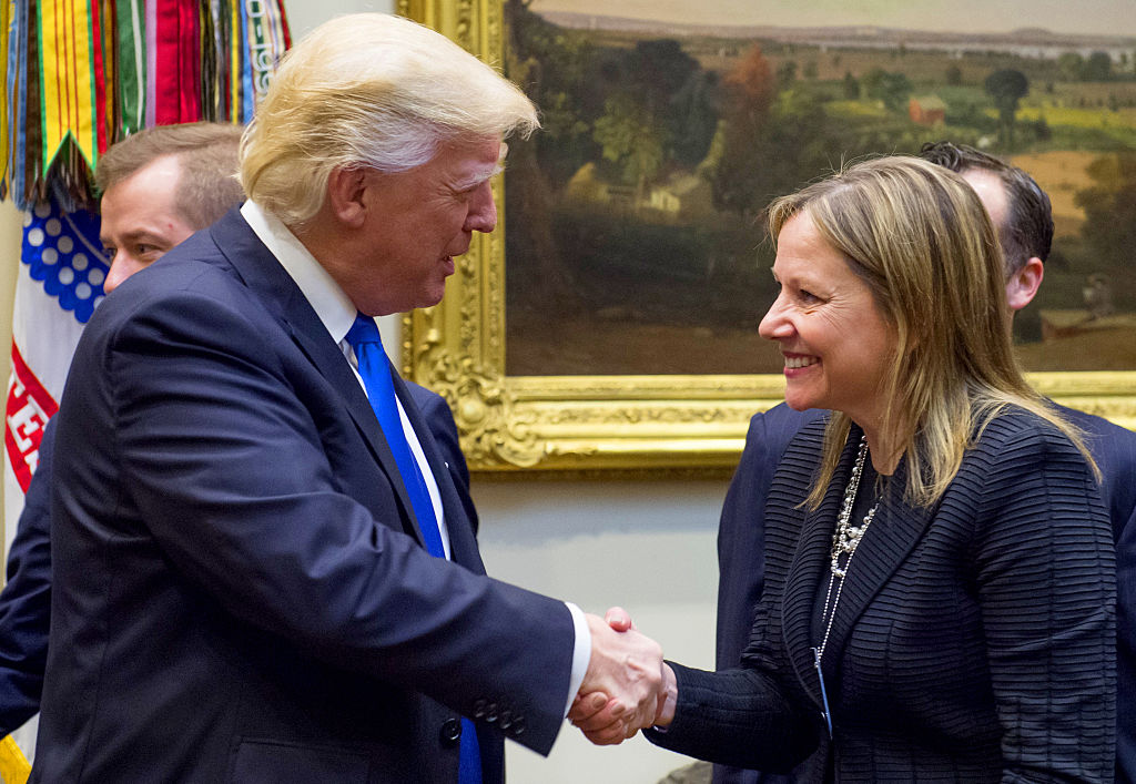 President Trump with GM CEO Mary Barra