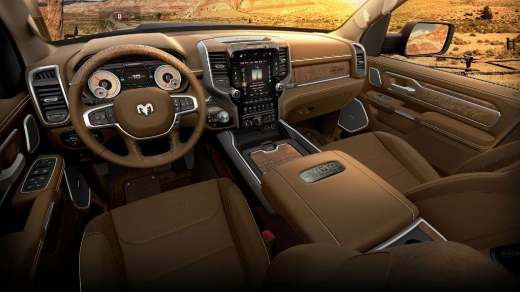 luxurious interior of the consumer reports number 1 pickup truck of 2021