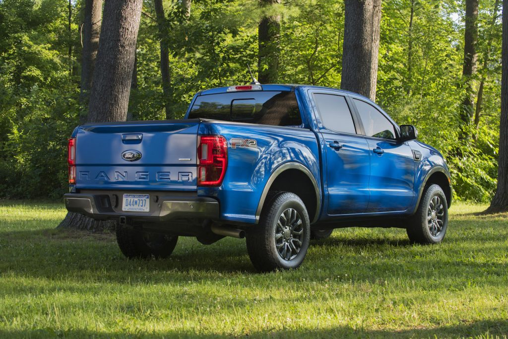 The Ford Ranger is a small but capable pickup truck.