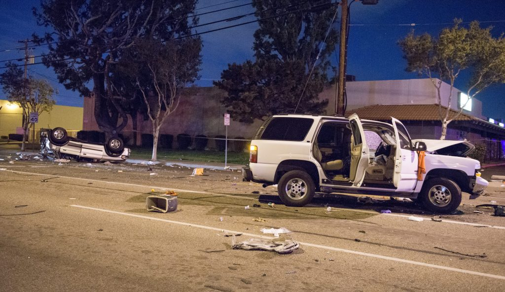 SUV in accident with another car