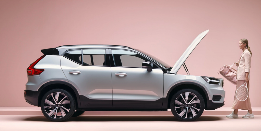2021 Volvo XC40 Recharge side view
