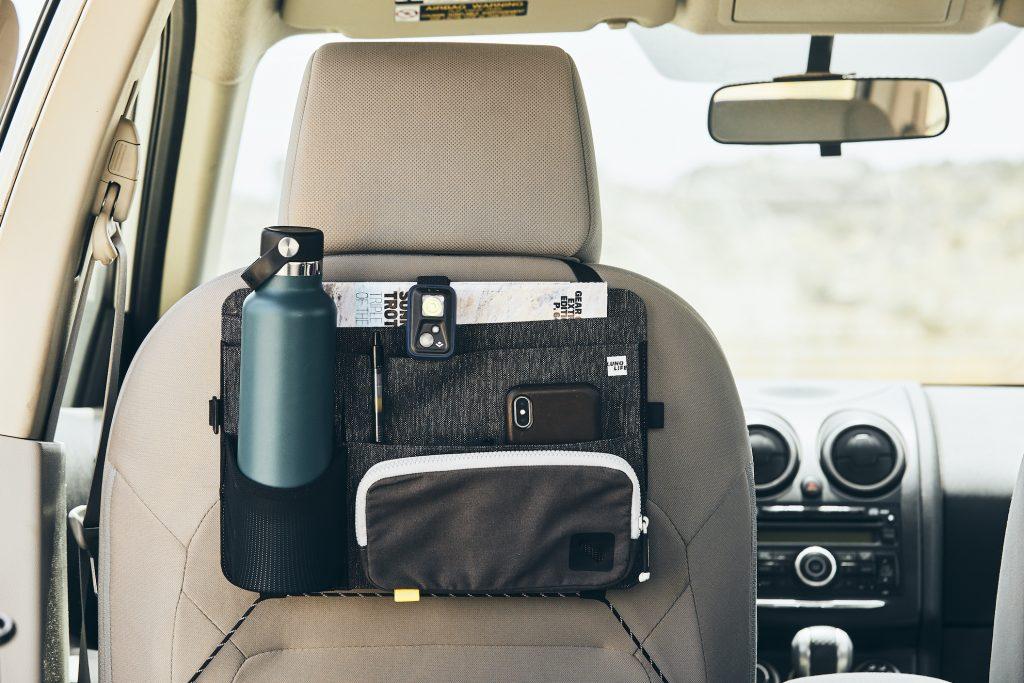 Luno seat back camper storage