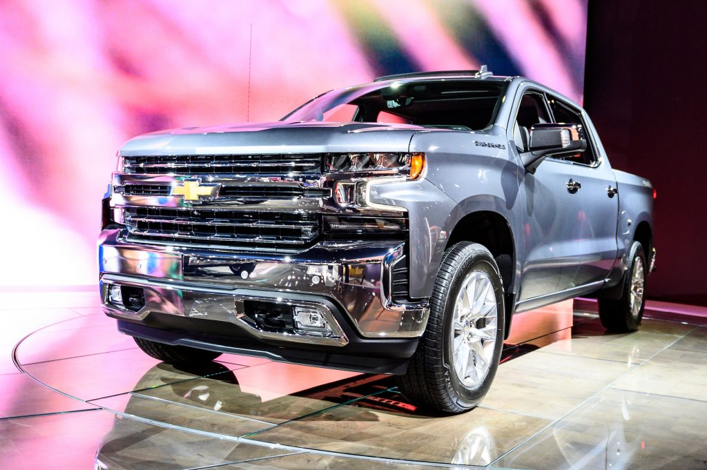 Chevrolet Silverado seen at the New York International Auto Show at the Jacob K. Javits Convention Center