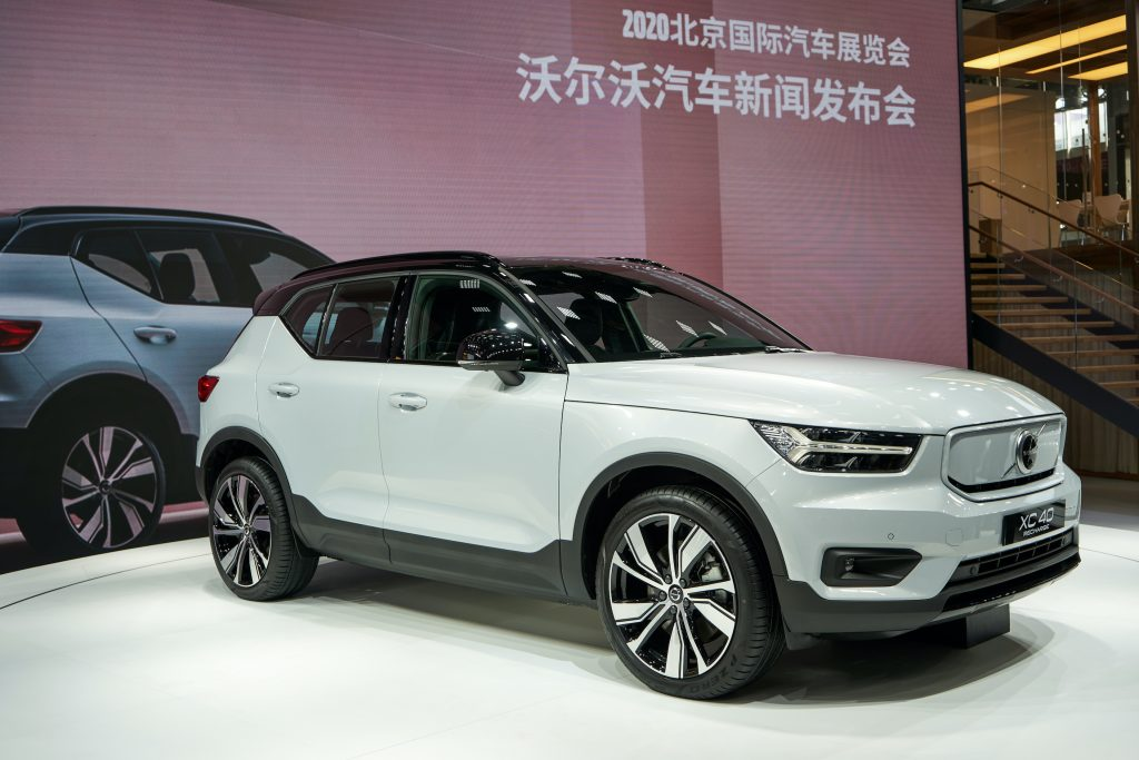 Volvo XC40 Recharge P8 Electric vehicle at Beijing International Auto Show