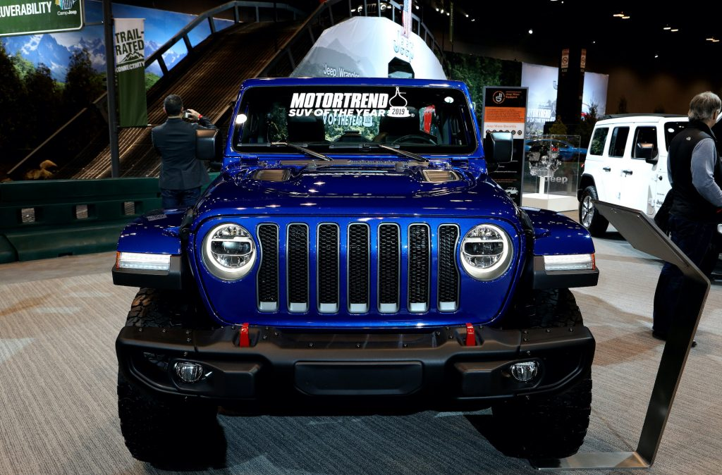 019 Jeep Wrangler Rubicon is on display at the 111th Annual Chicago Auto Show