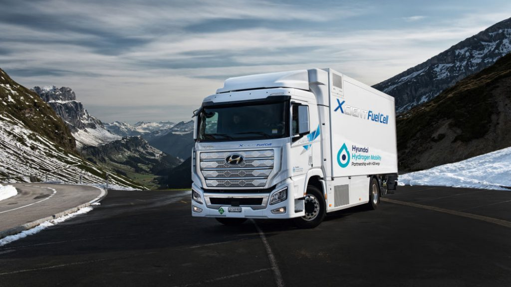 Hyundai Xcient Fuel Cell Semi Truck