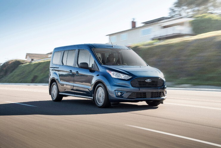 2020 Ford Transit Connect driving on highway