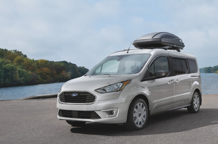 2021 Ford Transit Connect on beach