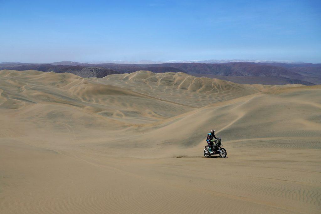 2019 Dakar Rally on San Juan de Marcona, Peru | Getty Images Kawasaki KLR 650
