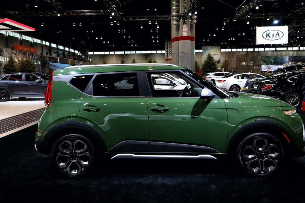2020 Kia Soul is on display at the 111th Annual Chicago Auto Show at McCormick Place in Chicago, Illinois