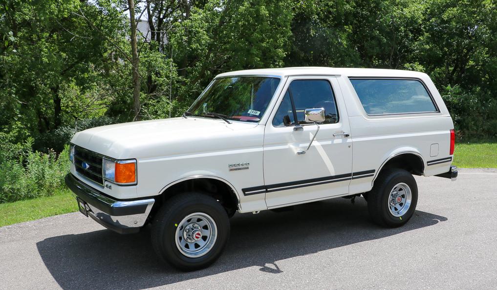 1991 Ford Bronco in white