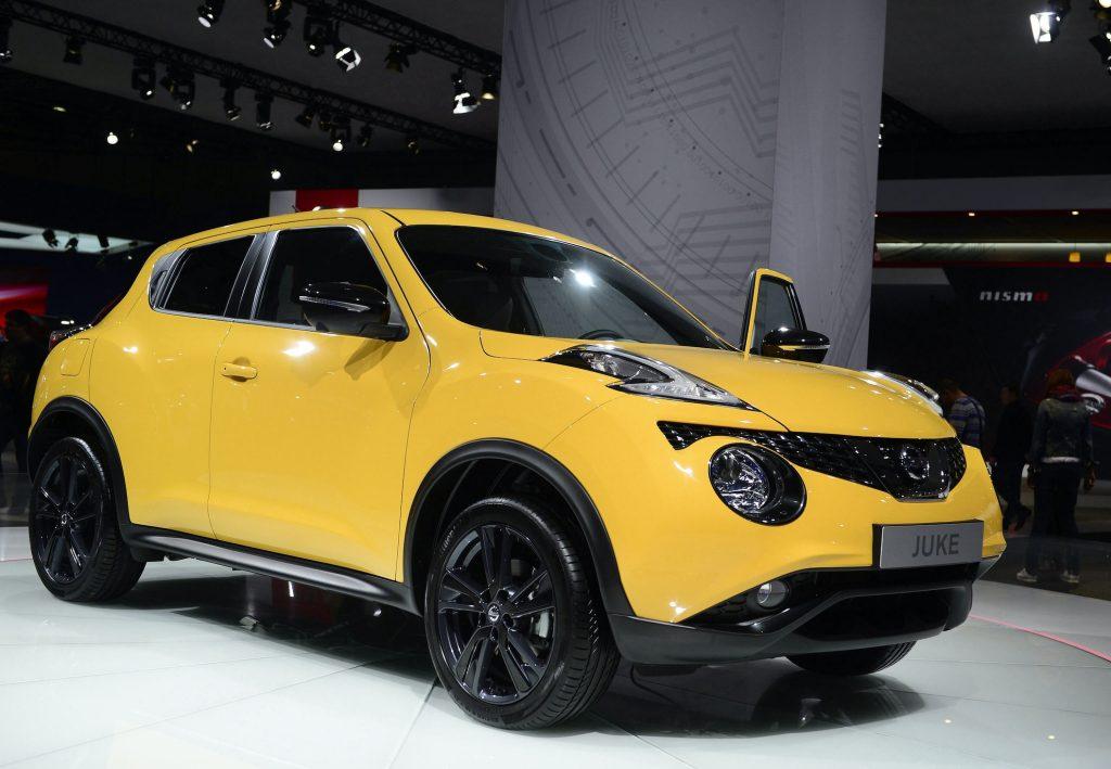 Nissan Juke model car on exhibition