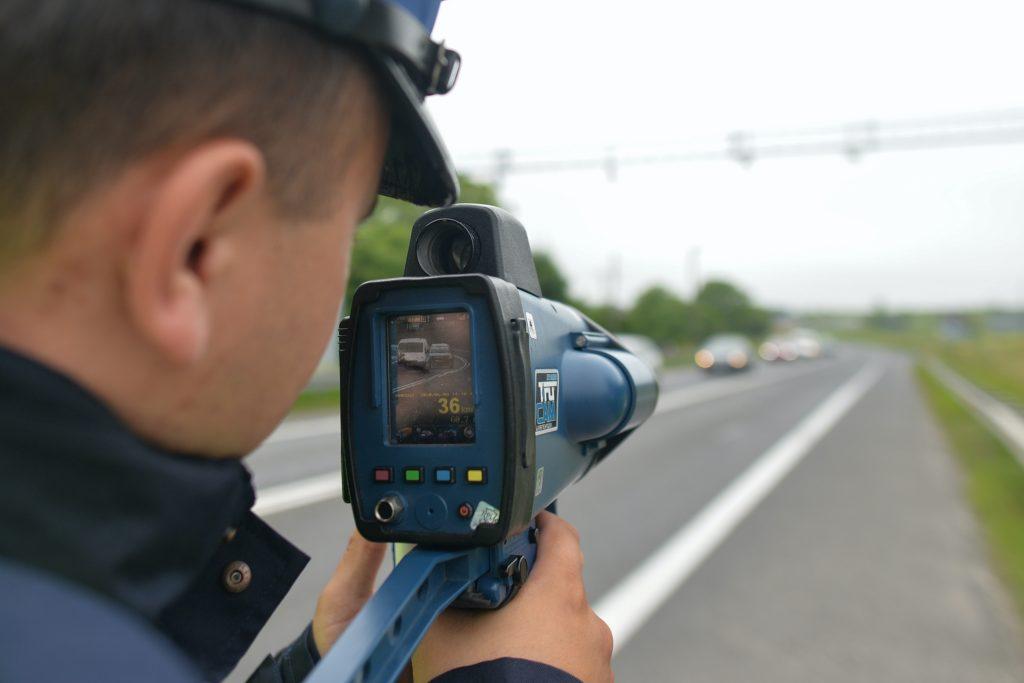 Radar gun used to give speeding tickets